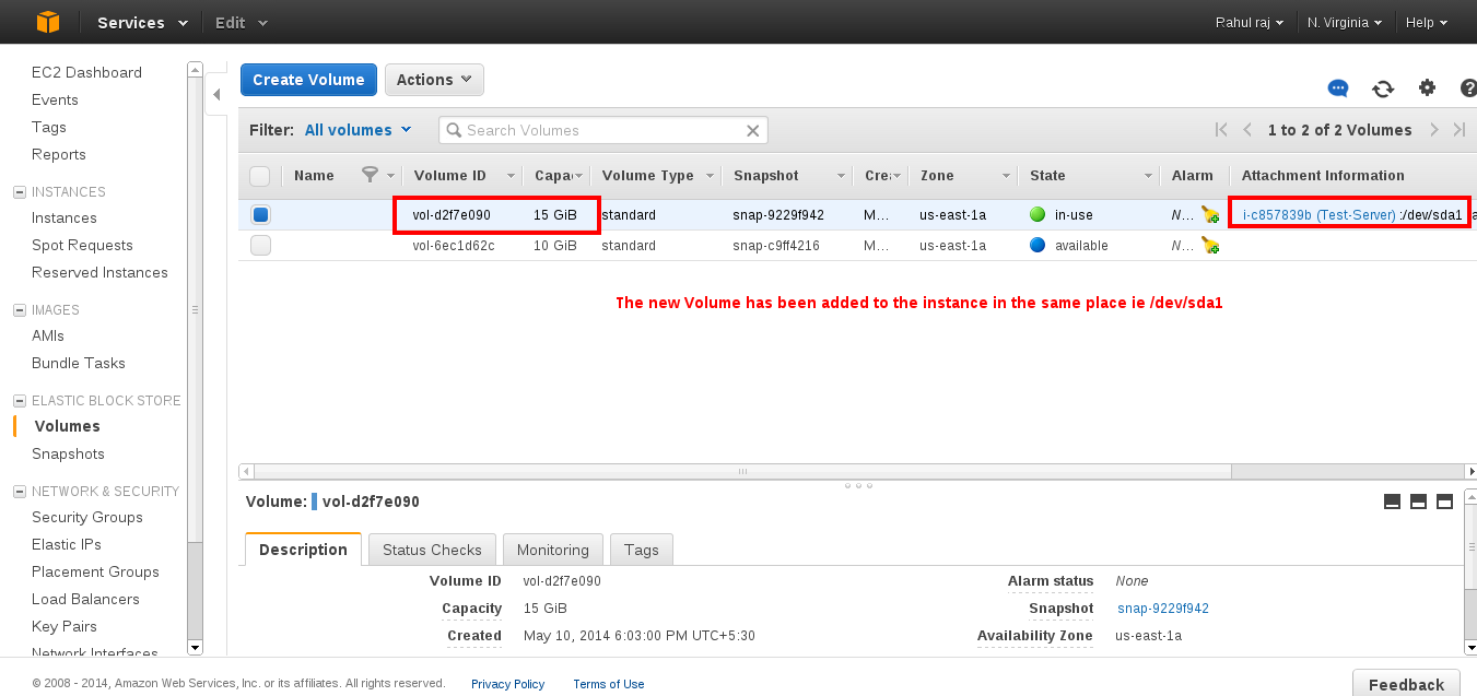 how to change instance size aws